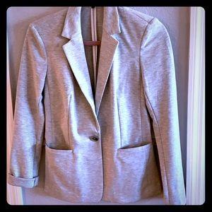 Express light gray lightweight cotton blazer